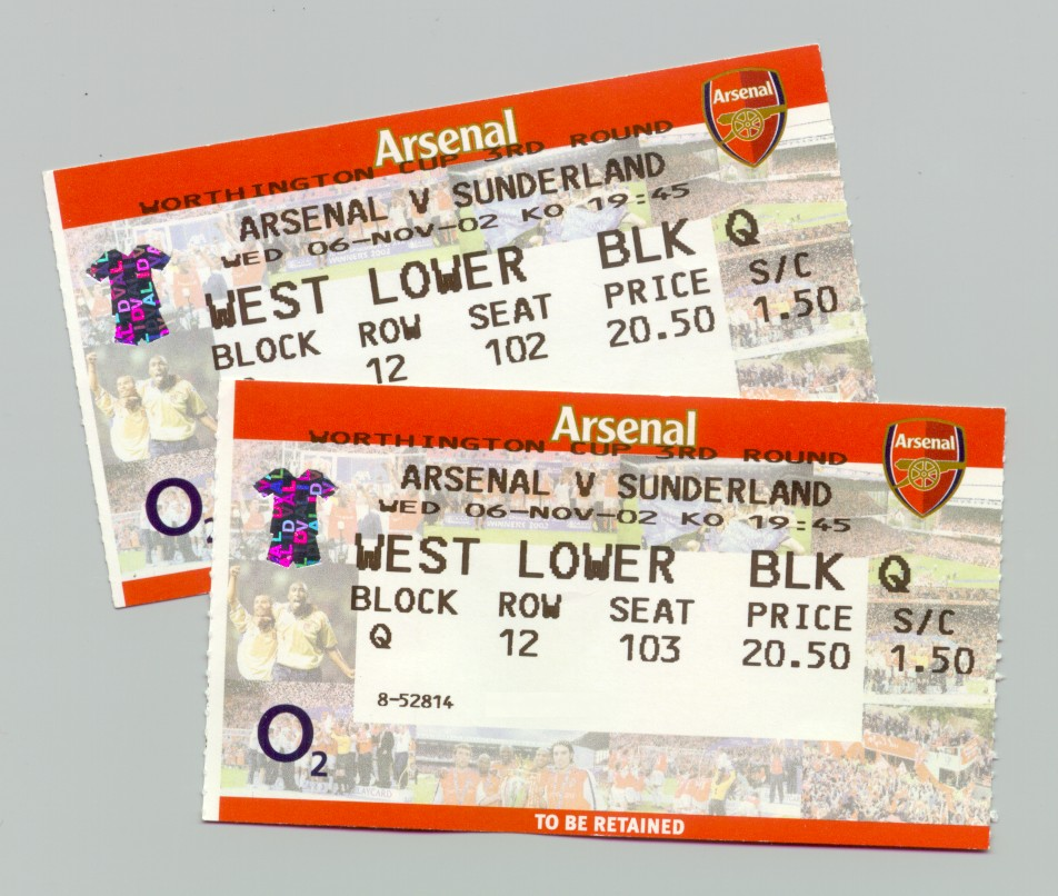 buy tickets to arsenal games